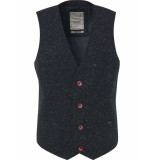 No Excess Gilet, tweed wool, with neps, fully night