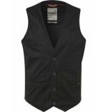 No Excess Gilet, yd stripe jersey, un lined, black