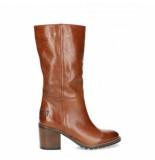 Shabbies Women boot shiny grain leather cognac-schoenmaat 37