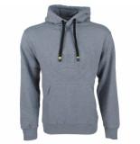 Twinlife heren hoodie met 3d reliëf opdruk sweat -