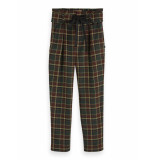 Maison Scotch Checked paperbag pants with shell f combo l