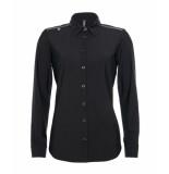 Zip73 129-01-01 blouse eyelet kraag