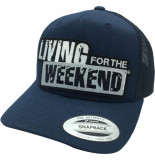 Living for the Weekend Retro trucker navy 268