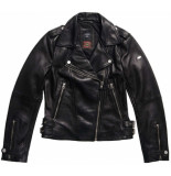 Superdry Classic leather biker black