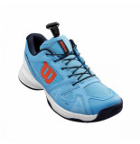 Wilson Tennisschoen junior rush pro ql carpet bonnie blue white tangerine tango-schoenmaat 39 (uk 5.5)