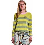 10 Feet Round neck longsleeve striped pull mos& yellow