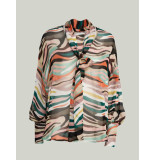 Summum 2s2518-11317 120 blouse bow tie multi colour viscose multicolour