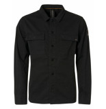 No Excess 97410803 long sleeve overshirt black 020 no-excess