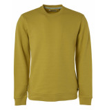 No Excess Sweater, r-neck, double layer jacqu lime