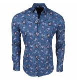 Ferlucci Heren overhemd met trendy design calabria stretch -