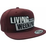 Living for the Weekend Classic snapback maroon 264