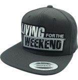 Living for the Weekend Classic snapback dark grey 268