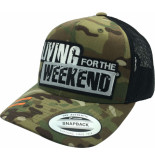 Living for the Weekend Retro trucker multicam 253