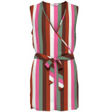 Only Alma life poly s/l wrap playsuit