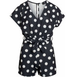 Sisters Point Girl playsuit black/cream dots