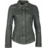 Gipsy Gg shirt idrv real leather olive