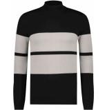 Purewhite Knitt pullover black & beige