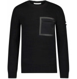 Purewhite Pull with frond pocket black