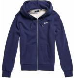 Superdry Ol classic zip hood cardigan m.blue grit