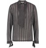 Aaiko Taylor 514 blouses black & brown combi printed