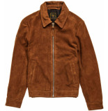 Superdry Indie coach suede jacket tobacco
