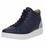 FitFlop Women rally glitter high top sneaker maritime blue-schoenmaat 37