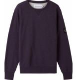 Calvin Klein J30j316550 monogram badge sweater vcv gentian violet -