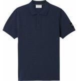 Calvin Klein J30j316569 monogram badge polo c5g naval blue -