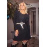 Colourful Rebel 9116 nelly lurex dress black -