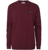 Les Deux Piece sweatshirt burgundy charcoal mint