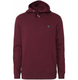 Les Deux Piece hoody burgundy charcoal mint