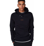 Les Deux Lens hoody black rusty brown