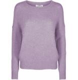 Moss Copenhagen Femme mohair o pullover lavender frost