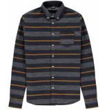 Kultivate Shirt vertical striped dark navy flanel