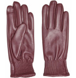 Only Onlnora leather gloves fired brick