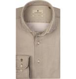 Thomas Maine Overhemd khaki dobby washed modern kent tailored fit