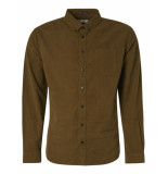 No Excess 97410809 long sleeve rib overhemd moss 152 no-excess