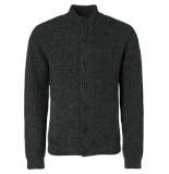 No Excess 97230923 vest cardigan night blue black 078 no-excess