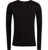 Garage Basis t-shirt ronde hals lange mouw semi bodyfit zwart
