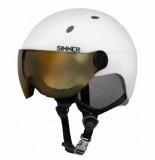Sinner Skihelm titan visor matte white 2020-52 -