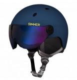 Sinner Skihelm titan visor matte dark blue 2020-55 -
