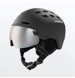 Head Skihelm head radar black + spare lens-56 -