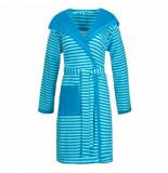 Esprit Badjas women striped hoody turquoise-40 / 42