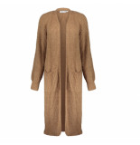 Geisha 04555-70 760 vest long with pockets l/s tobacco