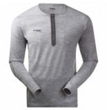 Bergans T-shirt men henley wool grey mel-l