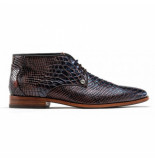 Rehab Men gregory snake verniz dark blue dark brown-schoenmaat 43