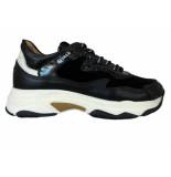 Giga Sneakers velvet black glitter