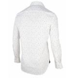 Cavallaro Cavallaro overhemd shirt print wit 1095014-10653