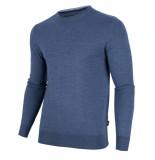 Cavallaro Cavallaro pullover merino wol ronde hals mid blue