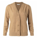 YAYA 101085-022 cotton blend cardigan with double placket.